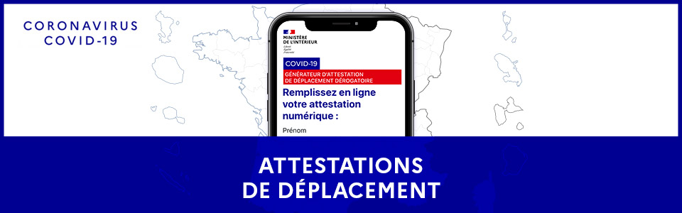 Attestation et information Covid-19